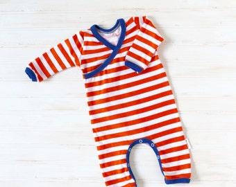 Kimono Romper - Baby Going Home Outfit - Baby Romper - Newborn Romper - Layette - size Newborn - READY TO SHIP