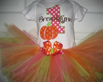 Boutique Fall Thanksgiving Pumpkin Birthday tutu set