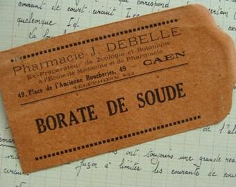 Stunning Antique French Ephemera Small Gummed Medical Envelope 100 Years old
