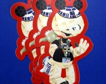 Disneyland Tourist Horace - Star Wars Mummy Boy Sticker