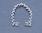 Silver Leaf Headband | Silver Wedding Hair Accessories | Silver Leaf Wedding Hairband [Gilded Ivy Headband: Silver]