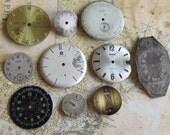 Vintage Antique Watch  Assortment Faces - Steampunk - Scrapbooking u38