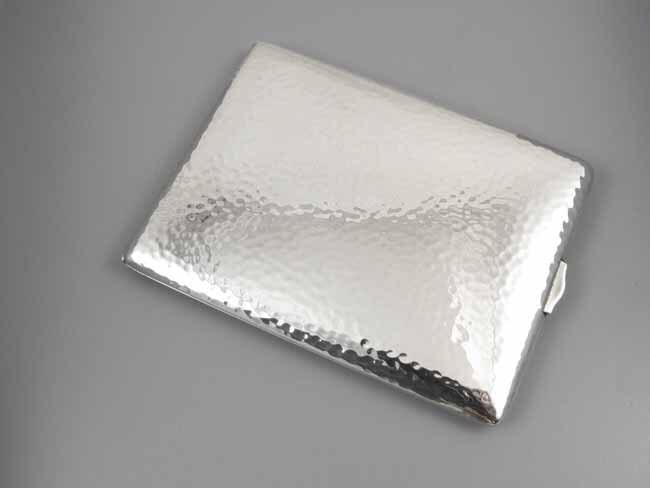 Cigarette case sterling silver Art Deco signed Watrous 3.8 ounce M142C&E business card case
