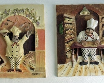 Kitchen Plaques with Chefs