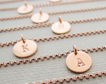 Initial Bracelet rose gold layering bracelet thin dainty charm bracelet personalized best friend birthday gifts