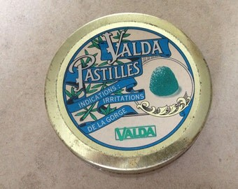 Valda French Advertising tin box from the 80'