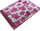 Birth Control Pill Sleeve, Pill Travel Sleeve Pink Pigs and Polka dots, Pill Sleeve, Cute and Discreet for your Bag