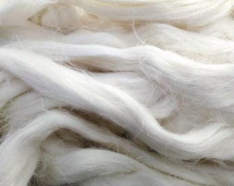 100% wild organic linen/flax fiber.  White color flax fiber. Bleached flax. Belorussian jewel .