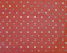 Seven and a half yards (7.5 yds.) of 100% cotton home dec.-weight fabric in tomato red and old gold