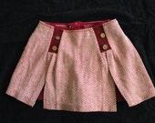 Burgundy Tweed Vintage Shorts Skirt Skort size sm