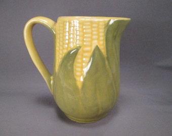 Shawnee Pottery Corn King Salt Creamer or Milk Pitcher #70