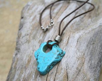 Boho Necklace Turquoise Necklace Boho Turquoise Necklace