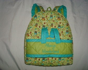 Doll Carrier in Who's Who Owl with coordinating accents