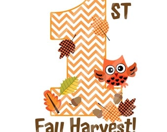 First Fall Harvest Digital Sheet for Iron Ons, Heat Transfers, Scrapbooking, Framing, T-shirts, Totes