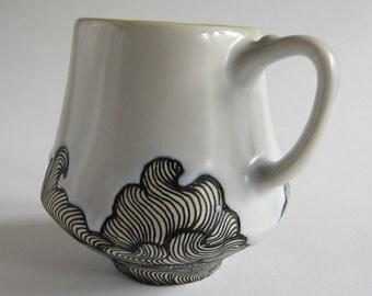 Wave Mug with Green
