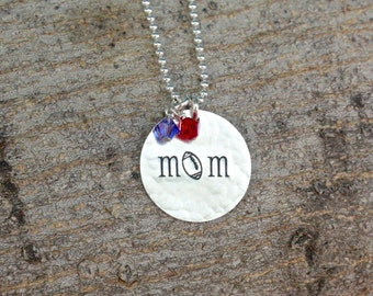 Football Mom Necklace, Football Mom Jewelry, Team Mom Gift Team Spirit Jewelry Sports Necklace