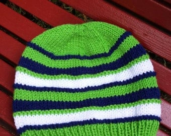 SEATTLE SEAHAWKS Inspired hat -Medium -made to order