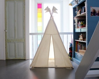 Kids Play Teepee | Tipi | Play Tent | MIDI size | Natural cotton | Play House | Nursery | Teepee Tent | Kids Tipi | Wigwam | Indoor Play
