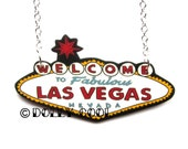 Las Vegas necklace Welcome to Fabulous Neon Sign VLV Rockabilly