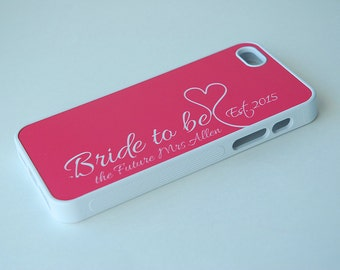 Personalized iPhone Case, Samsung Galaxy Case, Bride to be, the Future Mrs Last Name Est Phone Case, iPhone 4, 5, 6 Case, S4, S5, S6 Case
