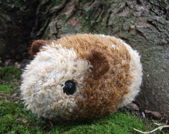 Guinea pig plush toy, guinea pig toy,  knit and felted Guinea pig stuffed animal, my first pet toy, practice pet toy, made to order