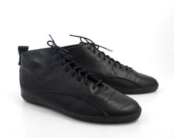 Granny Boots Vintage 1980s Black LA Gear Leather Lace Up  Women's size 6