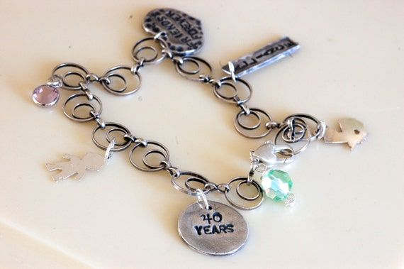 Custom Charm Birthday Bracelet