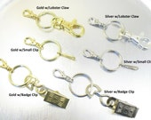 Lanyard Add-On - YOUR CHOICE - Badge Clip, Lobster Claw, Small Clip, Silver or Gold