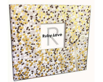 Gray and Gold Shimmer Baby Book | Ruby Love Baby Memory Book