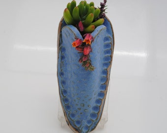 ceramic wall pocket  wall vase flower herb holder home decor