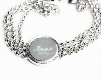 Sample Sale - Vintage ID Chain Name Bracelet - Jane