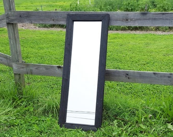 Long Reclaimed Wood Mirror - Home Decor - Rustic Mirrors