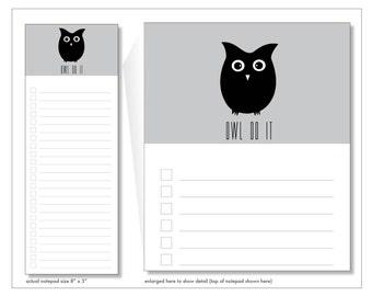 owl do it // notepad // grey // lines // checkbox // list // to do // skel // skel design // skel & co