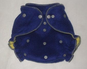 Blue/silver  fleece diaper  wrap