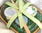 SALE Blue and Green Baby Washcloth Sushi Set THE ORIGINAL