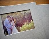 Custom Flush Mounted Photo Wedding Album with Book Cloth - 8x10 inches