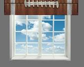 Custom Window Curtain or Valance, Football Texture - Any Size