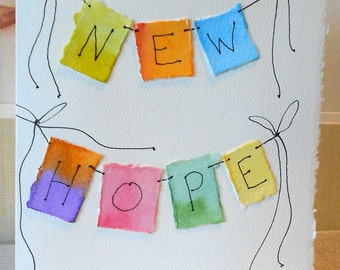 "New Hope ""Big Card"" 5x7 Watercolor Original betrueoriginals"