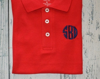 Toddler YouthSHORT SLEEVE Monogrammed Polo Shirt Personalized School Uniform