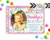 Bubble Party Invitation | Digital or Printed | Bubbles Invitation | Bubble Party | Bubbles Birthday Party | Bubble Invitations | Bubbles