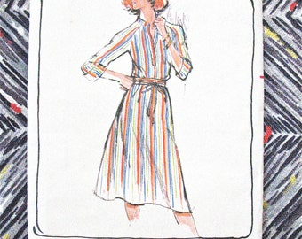 Uncut Butterick 5185 Misses' Dress Vintage Sewing Pattern  Bust 32.5 inches