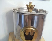 Wazir Chand Wine Chiller ~ CROWN ~ Gold and Silver ~ Romantic cottage Chic Wine chiller