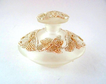 Vintage Silvestri Beaded Perfume Jar