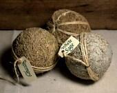 3 Herb Balls * home decor * herbal * primitive * sage * rosemary