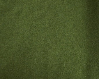 Olive Green Hand Felted Wool Fabric - Hand Dyed - - 100% Wool