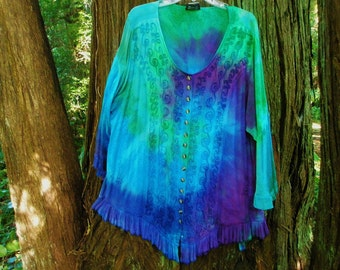 Tie Dye Holy Clothing Poet Blouse