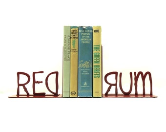 REDRUM Metal Art Bookends - Free USA Shipping