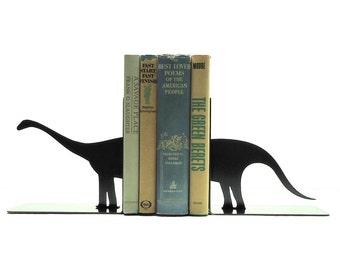 Brontosaurus Metal Art Bookends - Free USA Shipping