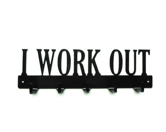 I Work Out Metal Art Medals Rack - Free USA Shipping