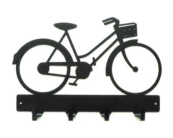 Beach Bicycle Metal Art Key Rack - Free USA Shipping